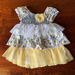 Little Lass 4 T Layered Floral Tulle Flower Dress